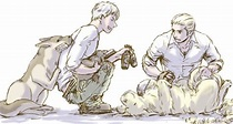 Prussia and Germany with their dogs   Hetalia: German ...