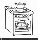 Stove Coloring Electric Children Cartoon Kitchen Fire Danger Elettrico Appliances Clipart Child Colorazione Libro Forno Bambini Template Cool Savva Ksenya sketch template