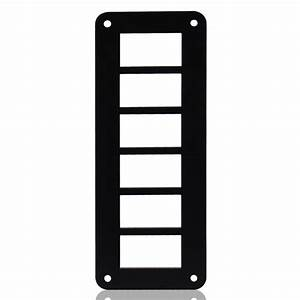Car Truck Aluminum Alloy 6 Way Switch Panel Housing Holder