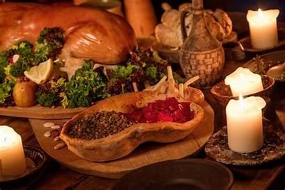 Medieval Table Kitchen Ancient Feast Castle Fantasy