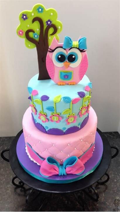 Owl Cake Birthday Paste Tree Gum Cakecentral