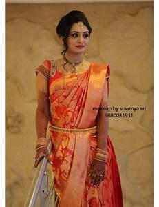 Orange bridal saree indian fashion Pinterest Saree, Photos and Orange