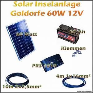 Solar Inselanlage Berechnen : 60w 12v solar inselanlage goldorfe f r teich und garten ~ Themetempest.com Abrechnung