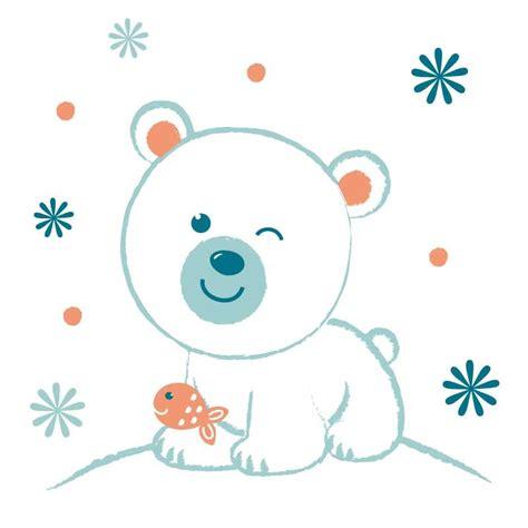 stickers chambre de bebe sticker mural quot ours polaire quot motif bébé garçon pour