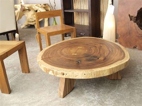 Round Suar Wood Coffee Table 42
