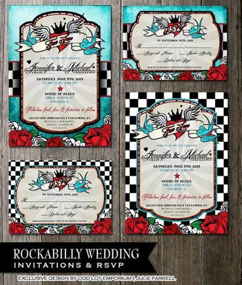rockabilly hochzeits einladungen uawg register karte