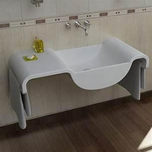 Onda Lavabo Bagno Design Moderno Con Portasciugamani