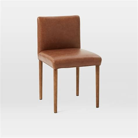 ellis faux leather dining chair west elm