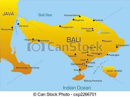 vector clip art  bali country vector map  bali