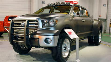 sema  toyota tundra dually diesel autoblog