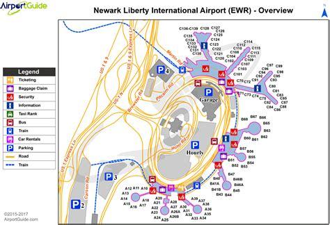 Airport Newark Map International Map