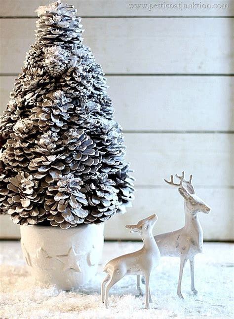 White Christmas Tree And Deer