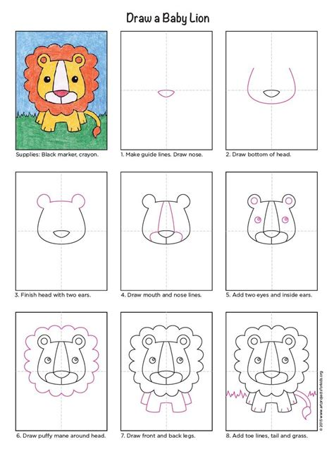 baby lion apfk tutorials drawings lion drawing art