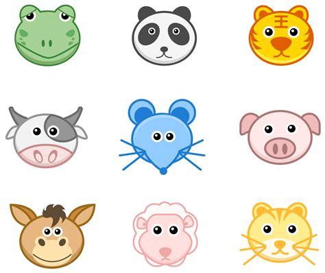 27 iconos de caras de animales ai by gianferdinand