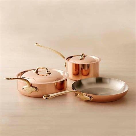 mauviel copper  piece cookware set cookware set mauviel pots  pans sets