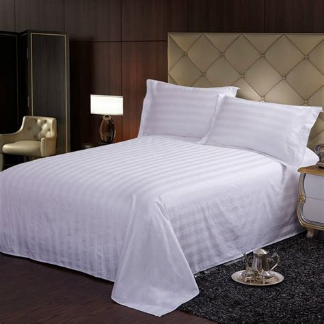Egyptian Comfort White Cotton Bed Sheet Bedding Sheets
