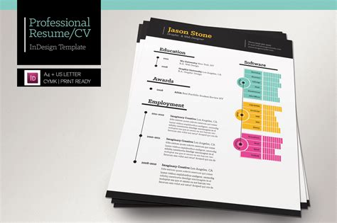 Resume Psdkeys by Professional Resume Cv Resume Templates On Creative Market