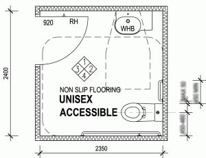 big size disabled accessible toilet shower