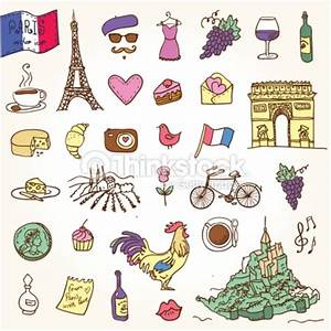 Symbols Of France As Funky Doodles Vector Art | Thinkstock