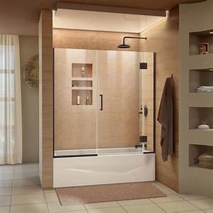 Shop DreamLine Unidoor X 585 In W X Bathtub Door At
