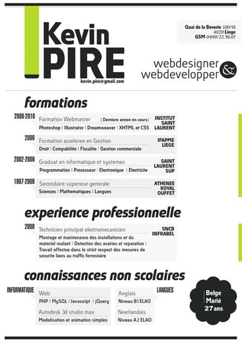 Most Creative Graphic Design Resumes by 40 Most Creative Resume Design Seen