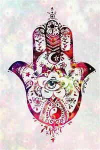 hand - hamsa hand - hipster - indie - eye - colors ...