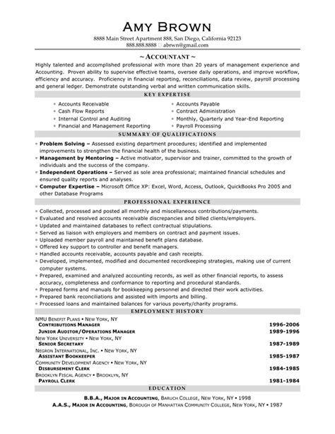 resume for an accountant accountant resume sample by amy brown writing resume