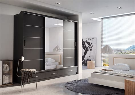 Clothes Cupboard With Mirror by Brand New Modern Bedroom Sliding Door Wardrobe Arti 1