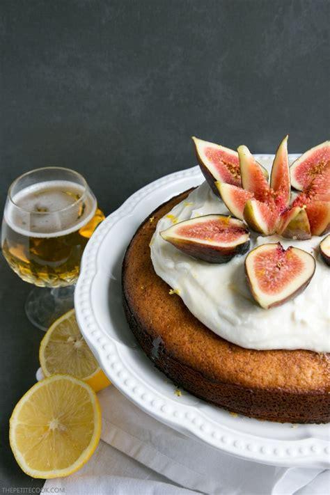 lemon beer cake  honey  figs  petite cook