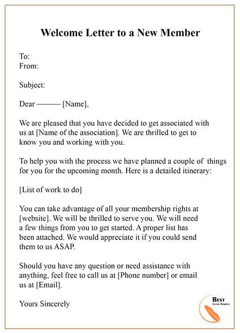 letter template format sample