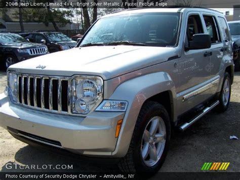 beige jeep liberty bright silver metallic 2008 jeep liberty limited 4x4