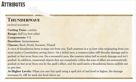5e thunderwave spells arcana unearthed