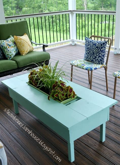 strawberry jam house porch coffee table  built  cooler