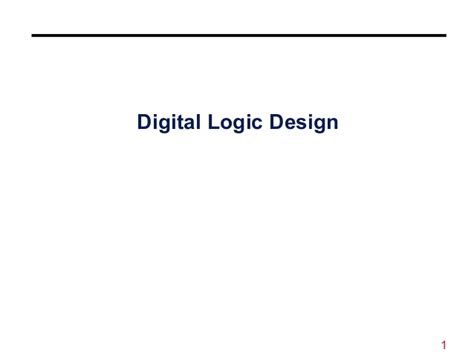 digital logic design digital logic design number system