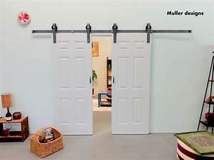 double door sliding barn door hardware sliding by With 6 panel sliding barn door