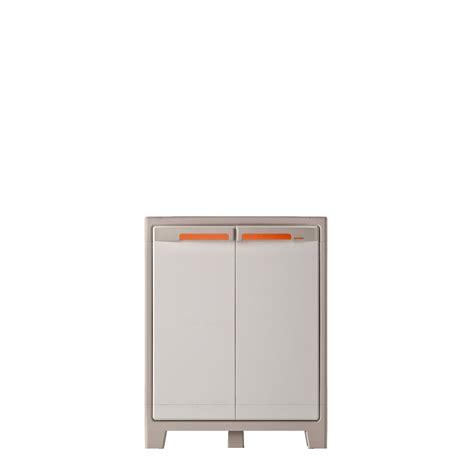 armoire basse r 233 sine 2 tablettes spaceo premium l 80 x h 100 x p 44 cm leroy merlin