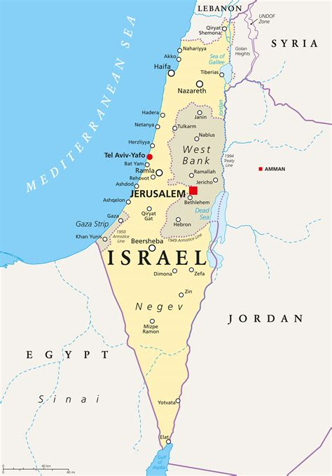 israel map guide   world