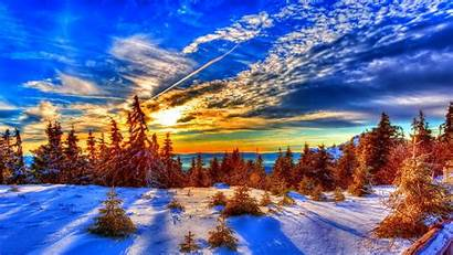 Winter Sunset Desktop Wallpapers Backgrounds