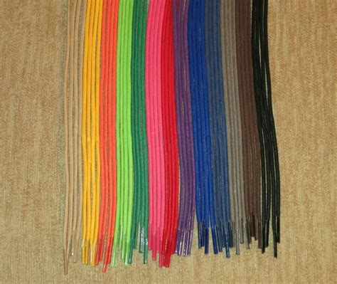 colored string waxed cotton dress shoe shoelaces 24 30 36 inch