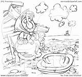 Poor Coloring Outline Woman Clipart Boat Watching Royalty Illustration Rf Bannykh Alex Kid 2021 sketch template