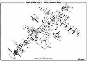 Homelite Ut09526 26cc Blower  Om 990000598  Parts Diagram