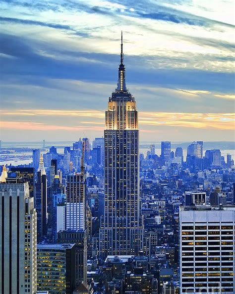 Empire State Building New York City Usa Poster By Sabine