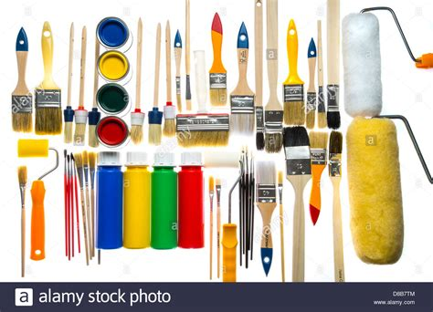 different types of paintbrushes colors painting tools