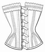 Corset Coloring Template Pages Templates Sketch sketch template