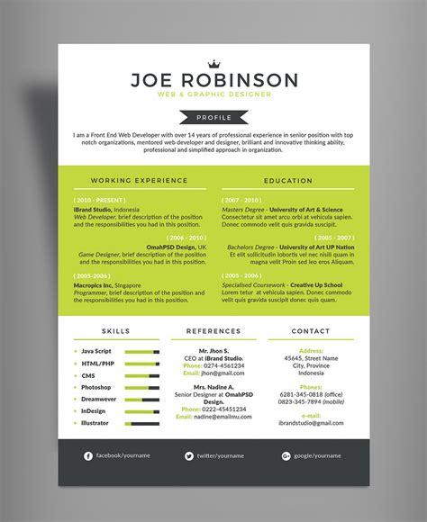 color resume free professional resume cv design template in