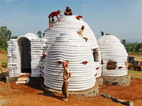 Super Adobe Shelter Before Cladding With Cob