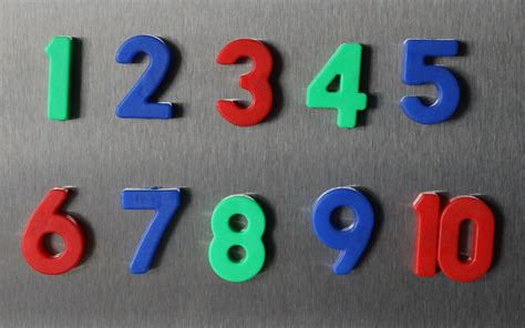 Numbers Counting 1 To 10 For Children Counting One To Ten With Magnetic Numbers (english) Youtube