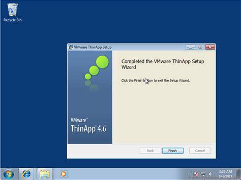 vmware thinapp creating a thinapp