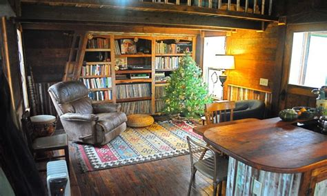 bookcase daybed  tiny homes  cottages small