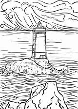 Lighthouse Coloring Pages Scenery Adults Printable Mountain Realistic Paint Bible Adult Lighthouses Number Sheets Drawing Bestcoloringpagesforkids Sheet Getdrawings Sea Getcolorings sketch template